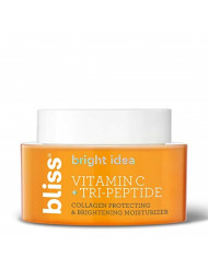 Bliss Bright Idea Vitamin C & Tri-Peptide Collagen Protecting & Brightening Moisturizer, Hydrates & Brightens Skin, Diminishes Dark Spots, Cruelty-Free & Vegan, 1.7 oz