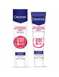 Clearasil Rapid Rescue Spot Acne Treatment Cream, 1 oz (Pack of 6)