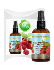 RED RASPBERRY SEED OIL 100% Pure / Natural / Virgin. Cold Pressed / Undiluted Carrier Oil. For Face, Hair and Body. 2 Fl.oz.- 60 ml. by Botanical Beauty