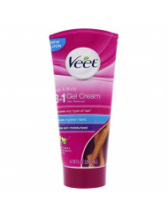 Veet Legs & Body 3 in 1 Gel Cream Hair Remover 6.78 oz. Sensitive Skin Formula, Infused with Aloe Vera and Vitamin E. Reduces Ingrown Hair and Moisturizes Skin. Removes All Hair Types (Pack of 2)