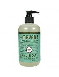 Mrs. Meyers's Hand Soap, Liq, Basil, 12.5 FZ (2 Pack)