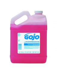 GOJO 184704 Antimicrobial Lotion Soap, Floral Balsam Scent, 1 gal Bottle (Case of 4)