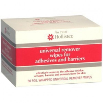 HOLL 7760 REMOVER WIPES Pack of 50 by HOLLISTER INC. ***
