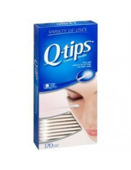 Q-tips Cotton Swabs 170 Count each (Pack of 3)
