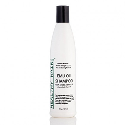 Healthy Hair Plus - Emu Oil Shampoo That Reduces Dryness and Moisturizes Hair (12oz)