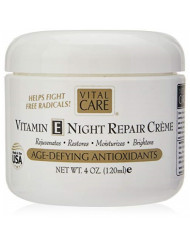Vital Care Anti-Aging Vitamin E Night Repair Creme Jar 4 oz