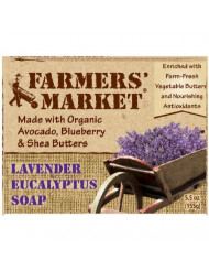 Farmers' Market Natural Bar Soap, Lavender and Eucalyptus, 5.5 Ounce (Pack of 2)