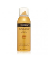 Neutrogena Micromist Airbrush Sunless Tanning Spray with Witch Hazel, Gradual Sunless Tanner with Alcohol-Free, Oil-Free & Non-Comedogenic Formula, Medium Intensity, 5.3 oz