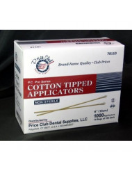 """Value-Pack 2,000 x 6"""" (Inches) Cotton-Tipped Applicator/Cotton Swab/Q-Tips"""