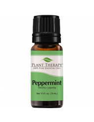 "Plant Therapy Peppermint Essential Oil | 100% Pure, Undiluted, Natural Aromatherapy, Therapeutic Grade | 10 Milliliter (â…"" Ounce)"