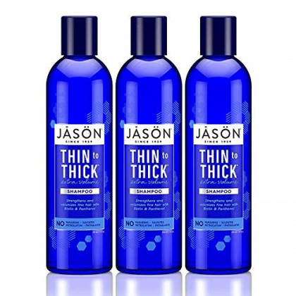 Jason Thin-To-Thick Extra Volume Shampoo 8 oz (Pack of 3)