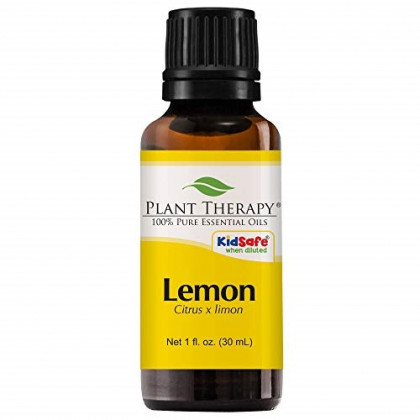 Plant Therapy Lemon Essential Oil | 100% Pure, Undiluted, Natural Aromatherapy, Therapeutic Grade | 30 Milliliter (1 Ounce)