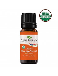 Plant Therapy Orange Sweet Organic Essential Oil 100% Pure, USDA Certified Organic, Undiluted, Natural Aromatherapy, Therapeutic Grade 10 Milliliter (1/3 Ounce)