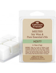 MINTY 2.5oz of 100% Pure & Natural Soy Candle Meltie/Tart/Melts made with Pure Spearmint and Peppermint Essential Oils
