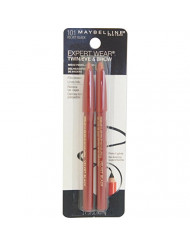Maybelline New York Expert Wear Twin Brow and Eye Pencils, 101 Velvet Black, 0.03 Ounce (Pack of 6)
