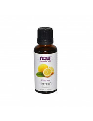 Now Essential Oils, Lemon Oil, Cheerful Aromatherapy Scent, Cold Pressed, 100% Pure, Vegan, 1-Ounce