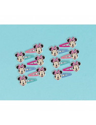 Disney Minnie Mouse Bow Hair Clip, Multi Color, 1X1 3/4-Inch (12 Pack)