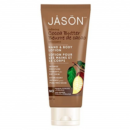 JASON Softening Cocoa Butter Hand and Body Lotion, 8 Ounce Bottle