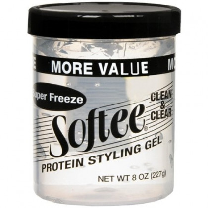 Softee Protein Super Freeze Hair Styling Gel, 8 Ounce