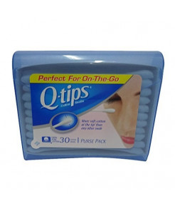 Q-Tips Cotton Swabs Travel Size, 30 count (Pack of 8)