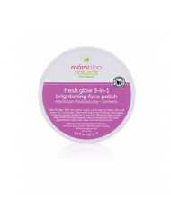 Mambino Organics Fresh Glow 3-In-1 Brightening Face Polish, Rhassoul Clay + Turmeric, 1.7 Ounces