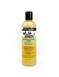 Aunt Jackie's Oh So Clean Lather-rich Deep Moisturizing Shampoo, Revives Fragile, Dry Hair, Enriched with Coconut Oil, Shea Butter and Extra Virgin Olive Oil, 12 Ounce Bottle