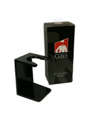GBS Shaving Brush Stand, Black Drip Stand - Acrylic Compatible with Brushes 19 mm Knot to 26 Mm Knot