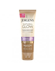Jergens Natural Glow 3 Days to Glow Moisturizer for Body, Medium to Tan Skin Tones, 4 Ounces