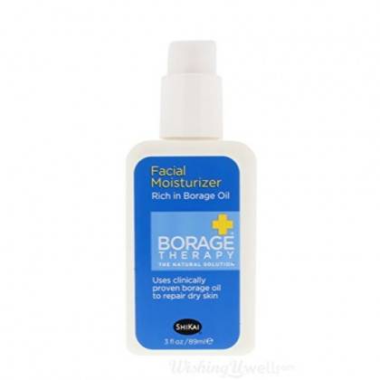 ShiKai Borage Therapy - Daily Facial Moisturizer, Plant-Based Moisturizer For Sensitive & Problematic Skin, Borage Oil Repairs & Rebuilds Skin (Fragrance-Free, 3 Ounces)