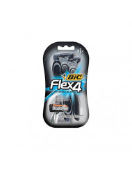 Bic Flex 4 Quad Shvr3ct Size 3ct (packaging may vary)
