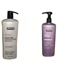 Professional Salon Formula Moisture Shampoo or Conditioner (33.8 Oz Each) (Shampoo & Conditioner Set) by Kirkland Signature