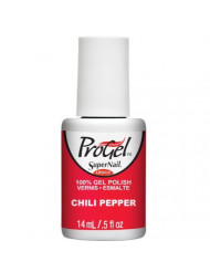 Supernail Progel Nail Lacquer, Chili Pepper, 0.5 Fluid Ounce