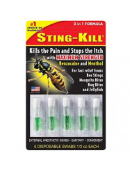 Sting-Kill Disposable Swabs 5 Each (Pack of 3)