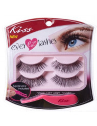 Kiss Products No. 01 Ever EZ Lashes, 4 Count