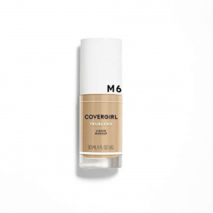 COVERGIRL truBlend Liquid Foundation Makeup Caramel Beige, 1 fl oz (30 ml) (packaging may vary)