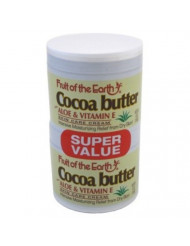 Fruit Of The Earth (Buy 1 Get 1 Free) Cream Cocoa Butter 4 Ounce Jar (118ml)