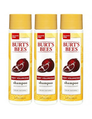 Burt's Bees Very Volumizing Pomegranate Shampoo, Sulfate-Free Shampoo - 10 Ounce Bottles - Pack of 3
