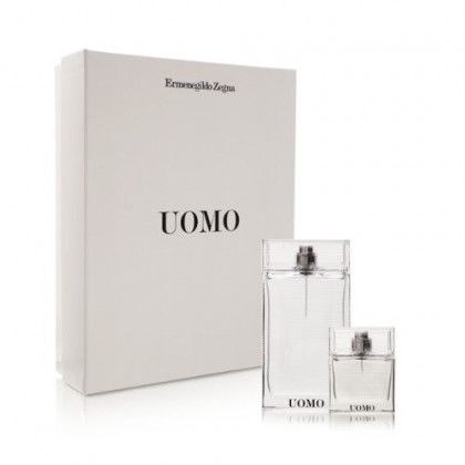 Ermenegildo Zegna 'Uomo' Holiday Set: 3.4 Oz Eau De Toilette Spray + 1.0 Oz Eau De Toilette Spray