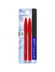 Maybelline New York Expert Wear Twin Brow And Eye Pencils, 101 Velvet Black, 0.03 Ounce (Pack of 2)