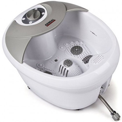 All in one Large Safest foot spa bath massager w/heat, HF vibration, O2 bubbles, red light FB09