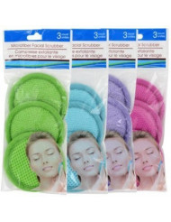 Transform Your Skin With Microfiber Spa Facial Scrubbers, 3-ct. Pack - Gently Removes Dead Skin Cells & Residual Impurities To Reveal Glowing Skin!assorted color