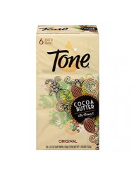Tone Soap Bar Cocoa Butter, Original, 4.25-Ounce Bars, 6 Bars Per Pack (2 Packs)