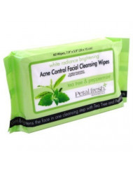 Bio Creative Lab Acne Control Cleansing Wipes, Petal Fresh Tea Tree and Peppermint, 60 Count