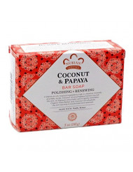 Nubian Heritage Bar Soap Coconut And Papaya 5 oz - Multi-Pack (3 bars)