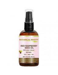 "RED RASPBERRY SEED OIL. 100% Pure / Natural / Undiluted / Refined Cold Pressed Carrier Oil. 1 Fl.oz.- 30 ml. For Skin, Hair, Lip and Nail Care. ""One of the highest anti-oxidant, rich in vitamin A and E, Omega 3, 6 and 9 Essential Fatty Acids""."