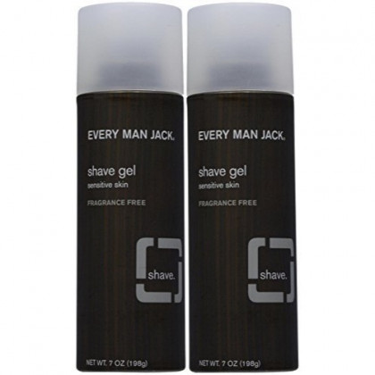 Every Man Jack Sensitive Skin Shave Gel-7 oz, 2 pk