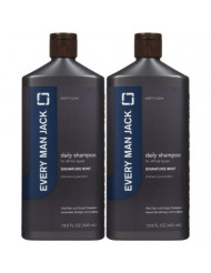 Every Man Jack Daily Signature Shampoo for All Hair Types - Mint - 13.5 oz - 2 pk