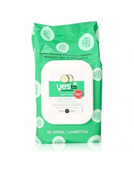 YES TO TOWELETTES,FACE,CUCMB,H/A, 30 CT Pack of 3