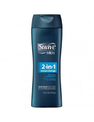 Suave Men 2-in-1 Shampoo & Conditioner - Ocean Charge - 12.6 oz - 2 pk