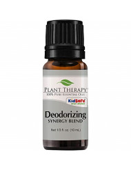 Plant Therapy Deodorizing Synergy Essential Oil Blend 10 mL (1/3 oz) 100% Pure, Undiluted, Therapeutic Grade
